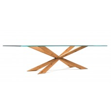 Cattelan Spyder üveg asztal